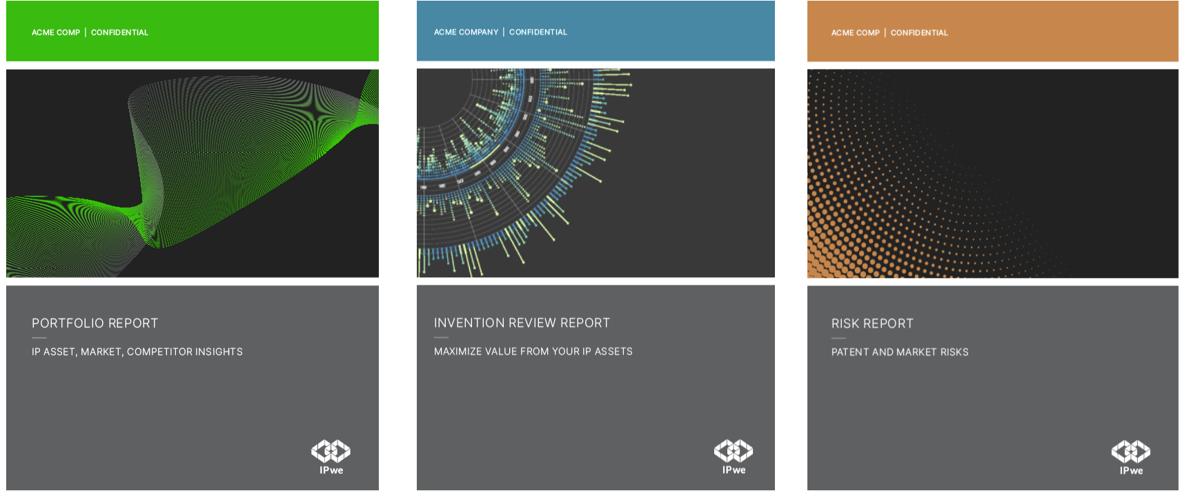 IPwe Patent Intelligence Reports